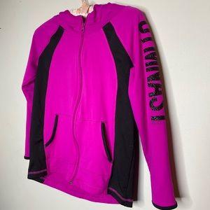 4/$35 Justice Gymnast full zip sweater hood